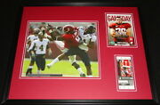 2009 Alabama Vs Chattanooga Framed Photo And Repro Ticket And Program Cover Set