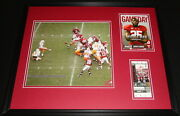 2009 Alabama Vs Tennessee Framed 16x20 Photo And Repro Ticket And Program Cover Set