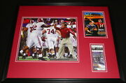 2008 Sec Championship Alabama Framed Photo And Repro Ticket And Program Cover Set