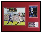 2009 Alabama Vs Kentucky Framed 16x20 Photo And Repro Ticket And Program Cover Set