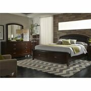 Liberty Furniture Avalon 3 Piece King Faux Leather Storage Bedroom Set