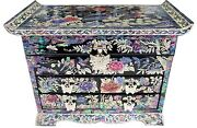 Jewelry Box Jewel Case Organizer 4 Drawers With Mirror Peony And Butterfly 705