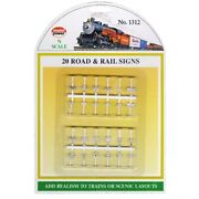 Model Power 1312 N-scale Road And Rail Signs 24 White With Black Letters