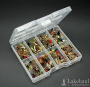 Tackle Fly Box With A Mixed Assortment Of Trout Fishing Flies, Ideal Starter Kit