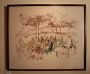 Ascot Paddock By Leroy Neiman - Serigraph On Paper