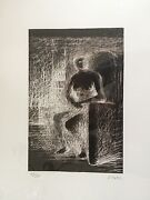 Henry Moore Andlsquoseated Figure Ivandrsquo 49/50 Reverse Lighting 1974 Framed Signed