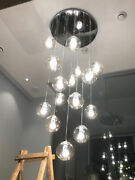 Clear Glass Globe Chandelier Living Room Lights Pendant Lamp Stair Ceiling Yb11