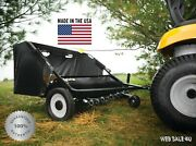 Lawn Sweeper Tow Behind Yard Grass Care Tractor Attachment Durable Steel 42andrdquo Usa