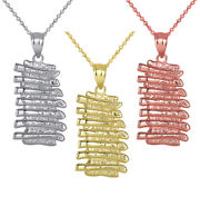 Solid Gold Rack Of Pork Baby Back Ribs Pendant Necklace