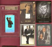 John F Kennedy Jfk Pieces Of The Past Signed Document Relic Card +bgs 9.5 Gem +3