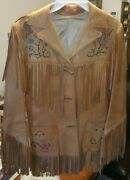Chris Line Vintage Deerskin Jacket 1950and039s -- Super Rare---medium