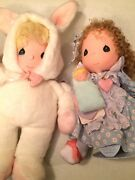Precious Moments 2 Collectible Dolls Vintage Plush Snowflake 16 And Molly 15