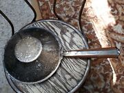 Antique Silver Plate Bed Warmer Silent Butler Wood Handle 6