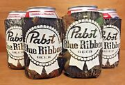 Pabst Blue Ribbon Pbr Real Tree Camo Beer Can Bottle Koozie Cooler 4 New And F/s