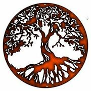 Vintage Style Metal Sign Tree Of Life Home Decor Faux Copper Finish 29x29.5