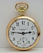 Bunn Special Private Label 18 Size 24 Jewel Pocket Watch Awc Co. Gold Filled