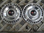 Two 1961 61 Chevrolet Chevy Impala Bel Air Nomad Vintage Hubcaps Wheel Covers