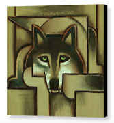 Large Wolf Canvas Wall Art Wolves Decor Geometric Animal Artwork For Walls