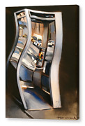Tommervik Abstract Payphone Phone Booth Old Phone Urban City Art Canvas Print