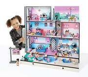 L.o.l. Surprise House With 85+ Surprises Large Wooden Doll House Girls Toys Lol