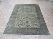 9 X 12 Hand Knotted Persian Gold Tabrez Revival Oriental Rug G6597