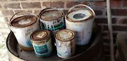 Rusty Tins Of Paint Tv Stage Play Film Prop Or Paint Varnish Something