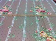 Bailey And Griffin Design Ed. Handprint Fabric Polished Cotton Floral Ribbons 4 Yd