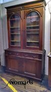 Antique Display China Cabinet Book Case Early Large Cabinet