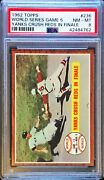 1962 Topps World Series Game 5 Yanks Crush Reds In Finale 236 Psa 8 Nm Mt