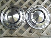 Two 1956 Chevrolet Chevy Belair Nomad Bel Air Vintage Hubcap Wheel Cover Antique