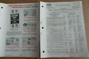 1950's Parts Catalog For Automotive Guages And Radiator Caps And Ball And Bearings