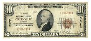 Greenville Alabama Al 10 National Bank Note 1929 Ty 1 Ch 5572