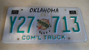 Oklahoma Commercial Truck License Plate Y27 713