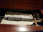 Montegrappa America's Cup Silver Fountain Pen Med Nib Isacn3se - Sold Out Lmtd