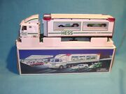 Hess Toy Truck And Racers 1997 Nib With Box And Bag