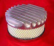 Aussiespeed 6 3/4 Polished Big Finned Aluminum Air Cleaner Filter 4bbl 2bbl