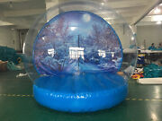New Giant Inflatable Snow Globe. Holiday Attraction. Photo Op Party Rental