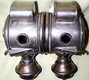 Pair Unusual Brass Carbide Sidelamps Renault Franklin Model T Ford Orient