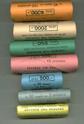 Greece 7 Rolls 2000 Unc Of National Mint And Bank Of Greece Official Set Last Gree