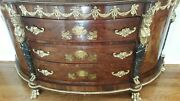 Antique Reproduction..amazing French Style Cabinet With 3 Drawers And 2