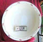 Rear 19th C. Taunton Colonial Pottery Stoke England Wash Basin 16.5and039and039 Wide