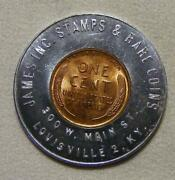 1953-d James Inc. Stamps And Rare Coins Louisville Ky Good Luck Encased Wheat Cent