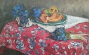 Original Russian Realism Still Life Oil On Canvas Painted In 1960