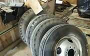 17.5 Inch Steel Wheel Rim 8 Lug With Tires Free Shipping Set Of Four