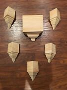 Crown Molding Corners Special Listing Bare Pine 6 Assorted Blocks