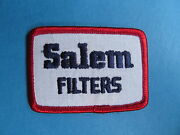 Vintage 1980and039s Salem Air Filters Racing Car Club Hat Hipster Jacket Patch 363r