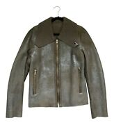 Paul Smith Mainline Metallic Shearling Jacket Ls Leather Jacket Rrp Andpound2100