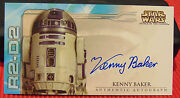 Topps 2002 Star Wars R2d2 Kenny Baker Autographattack Of The Clones Widevision
