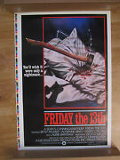 Movie Poster Friday The 13th 1980 Original One Sheet Printers Proof