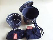 Esbit Cooking Set Camping Aluminum 585ml Pot And Windshield For Alcohol Stove
